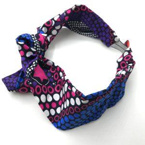 headband élastiqué en wax mauve