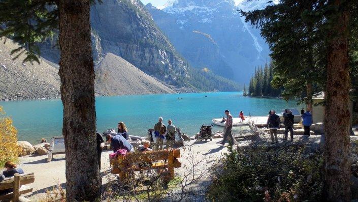 Moraine Lake in Lake Louise area