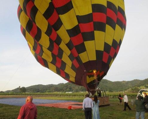 hot air balloon almost ready