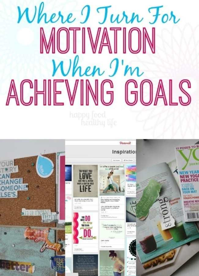 Do you find it easy to get side-tracked  when you're working toward something and lose sight of your goals? Come find out where I Turn For Motivation When I'm Achieving Goals. www.happyfoodhealthylife.com #motivation #selfhelp #gethealthy