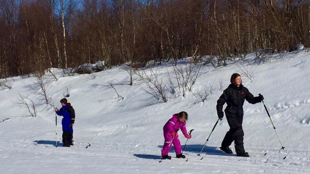Happy-Fox-Fun-in-Winter-skiing-family