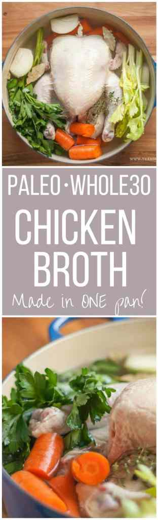 Paleo Whole30 Chicken Broth