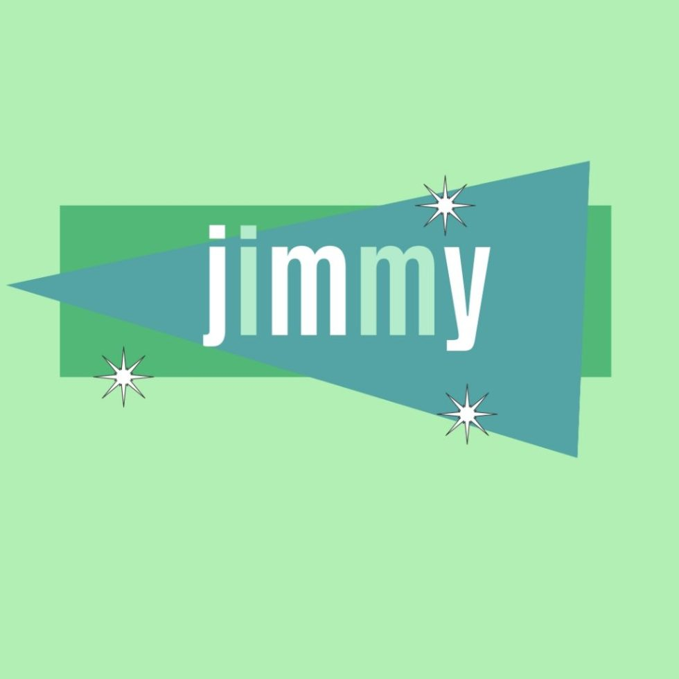 old fashioned name jimmy in retro design