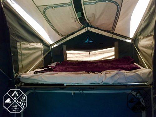 Inside Black Series Alpha camper trailer