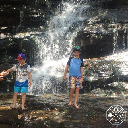Somersby Falls Brisbane Water National Park Waterfalls | family playing in waterfalls