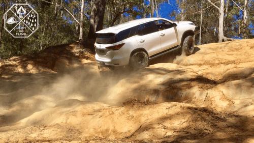 Watagans National Park 4x4 Tracks | Toyota Fortuner rock climb