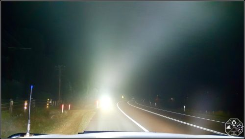 Toyota Fortuner Lighting up fog with Stedi led light bars