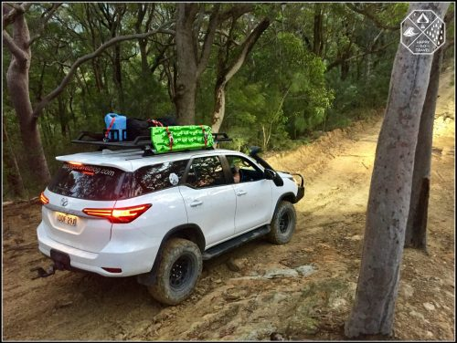 Rola Titan Tray on a Toyota Fortuner. Loaded with camping gear and 4wd gear