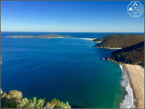 Fingal Island, Port Stephens Lighthouse View from Mt Tomaree