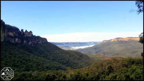 View looking at Three Sisters in Blue Mountains