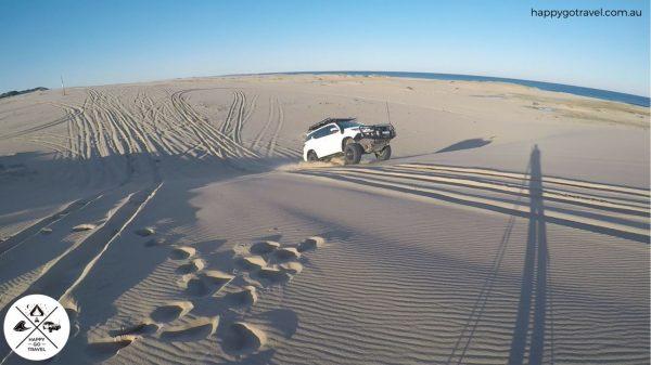 Toyota Fortuner Stockton Beach jumping sand dunes