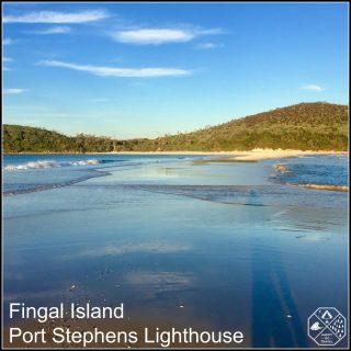Fingal Spit. Fingal Island, Port Stephens Lighthouse