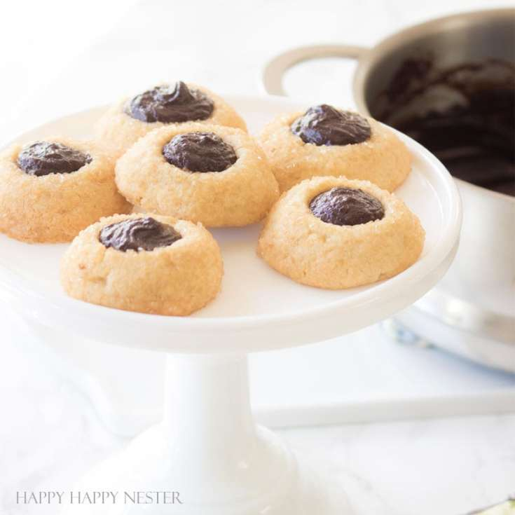 Chocolate Thumbprint Cookies Recipe. Here are 10 Comfort Food Cookies that are family favorites. There is such a wide variety of cookies that I'm sure you'll enjoy some of them. If you like chocolate chip, peanut butter, molasses, almond and biscotti than you'll love this collection. #cookies #bestcookies #baking #recipes #cookierecipes #chocolatechip