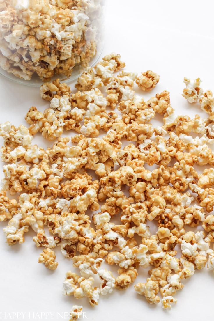 homemade easy microwave caramel popcorn