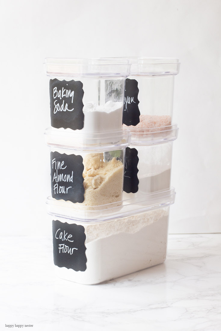 Organizing with Container Store Products makes a kitchen system is easy and great. Their clear stackable containers are the best for space and efficiency. This system is super and usable and your kitchen will be organized quite easily. Storage | Organizing | The Container Store | Organizing System | Kitchen Organizing