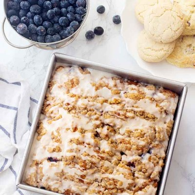 The Best Blueberry Buckle Cake Recipe