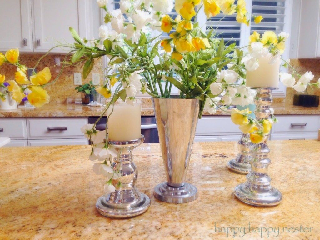 Decorating with Pottery Barn Style Silk Flowers - Happy ...