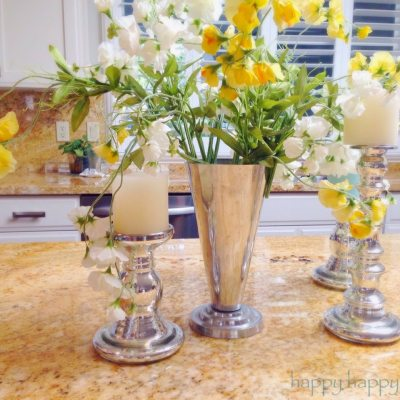 Decorating with Pottery Barn Style Silk Flowers