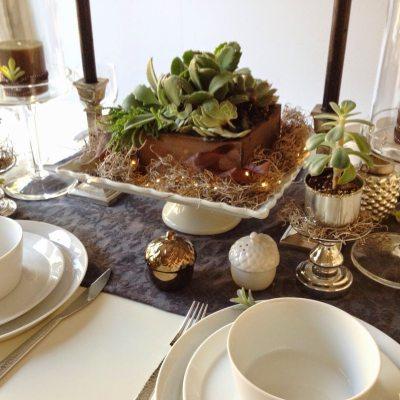 Beautiful Succulent Table Decor