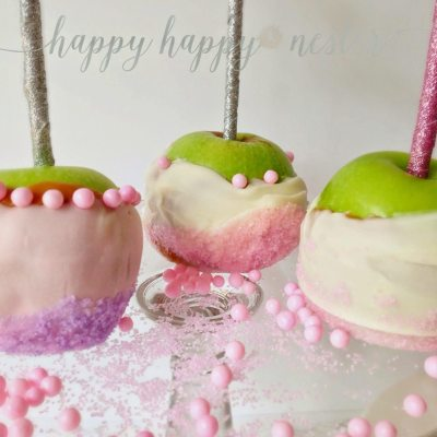 Pink Caramel Apples a Fun Valentine Treat!