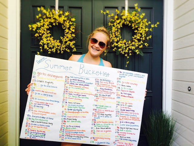 A Teen's Summer bucket list
