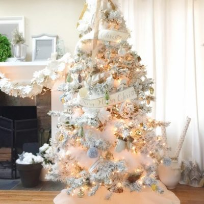 Flocking a Christmas Tree