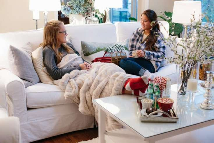 faux blankets are popular home decor