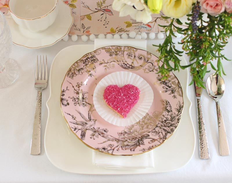 adelaide pink gold plates