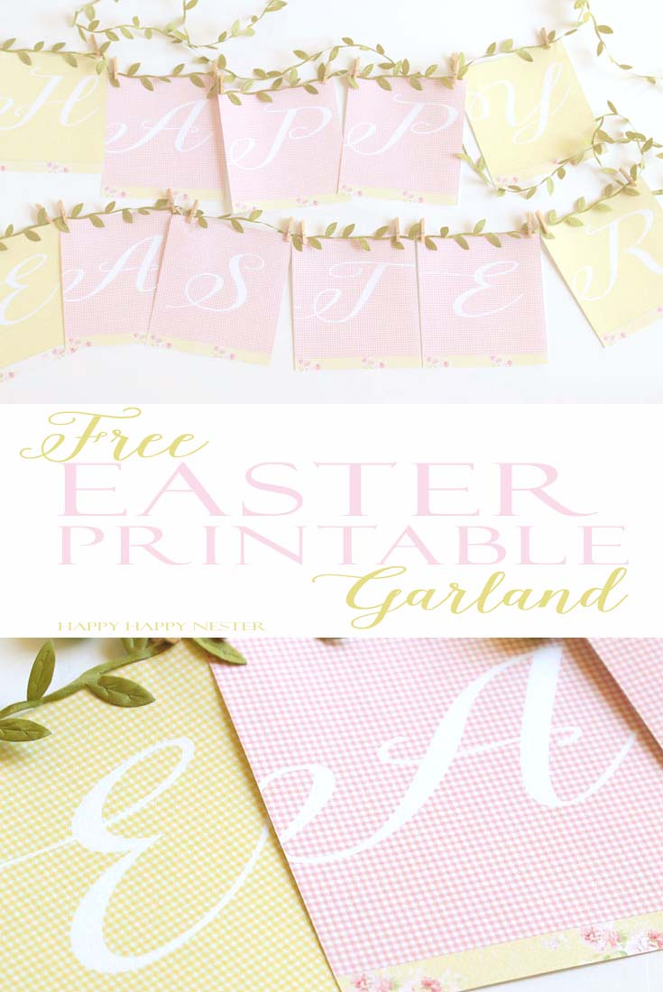 photo about Easter Banner Printable called No cost Easter Banner Printable: Purple and Inexperienced Gingham Print