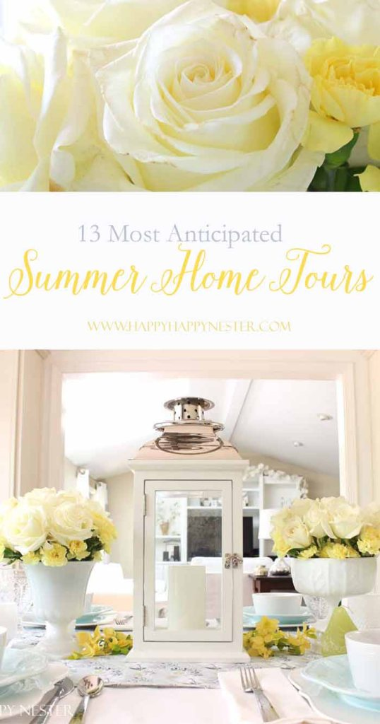 13 amazing summer home tours are lined up for you! Inspiration abounds with many different styles of decorating. My summer blues you'll find refreshing!