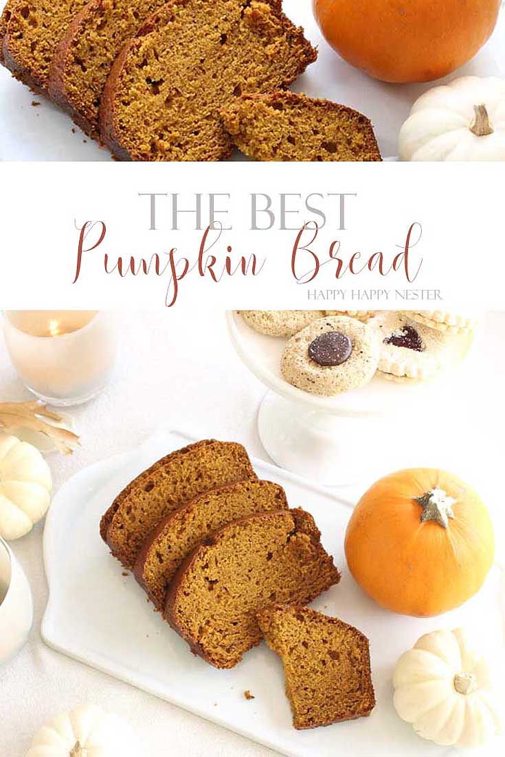 pumpkin bread with pumpkins pin image collage