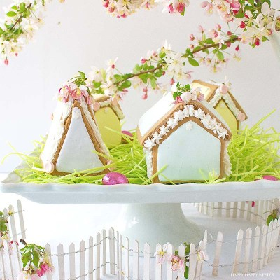 Adorable Gingerbread Easter Houses
