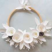One Easy Beautiful White Paper Wreath That You'll Want To Make
