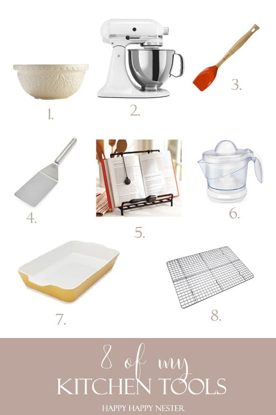Good kitchen tools are essential. I have rounded up 8 of my favorite tools that I give my honest reviews of them. Some of them may surprise you since I found some of them by accident. I love some of them so much that I bought two of them for my kitchen. #kitchen #baking #kitchentools #baking #kitchens #shopping