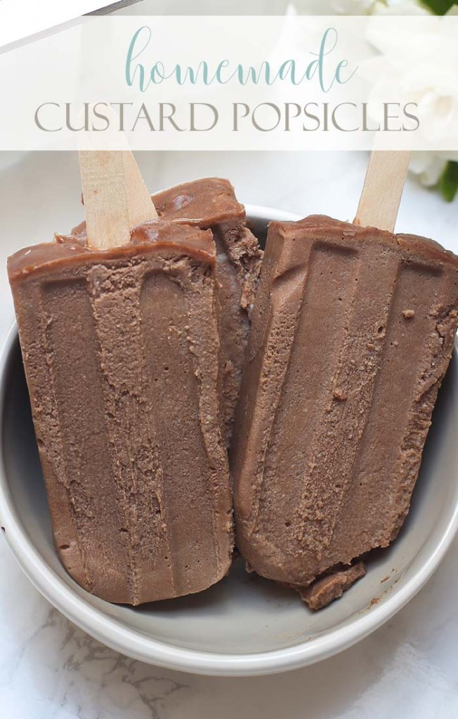 a photo with three popsicles in a bowl with type on the image