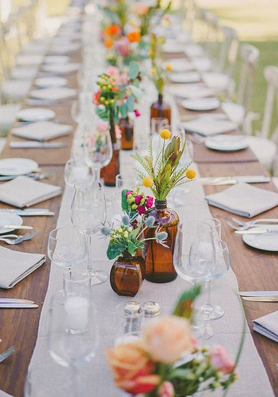 Easy rustic wedding table