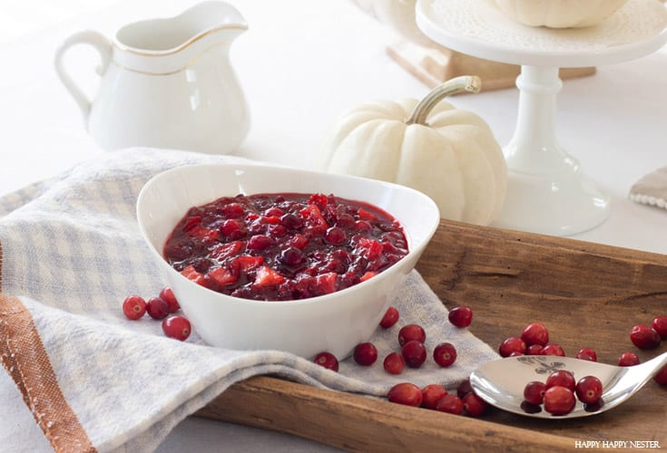 maple apple cranberry sauce recipe for the holidays