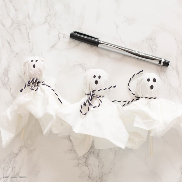 diy lollipop ghosts treats