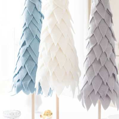 How to Make a Fleece Cone Christmas Tree