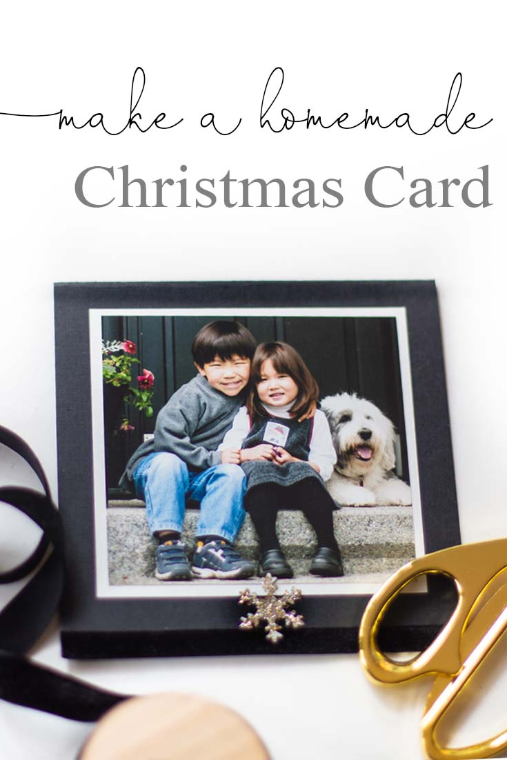 Want to make a unique Homemade Christmas Card this year? I made one that is super easy and so personal. If you feel crafty this year, make your own photo card. Craft | Homemade Card | Holiday Card | Make Your Card | Crafts | Paper Crafts | Photo Card | How to Make a Card | Homemade Crafts | Homemade | Christmas Cards