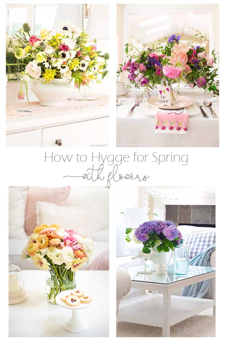 How to Hygge for Spring with Flowers is essential after surviving a long winter. Spring flowers add coziness to any home. Flowers always create a lovely homey atmosphere, and they immediately welcome people with a beautiful embrace. Hygge | Hygge Home | Spring Decor | Spring Flowers | Floral Bouquets | Flowers | Spring