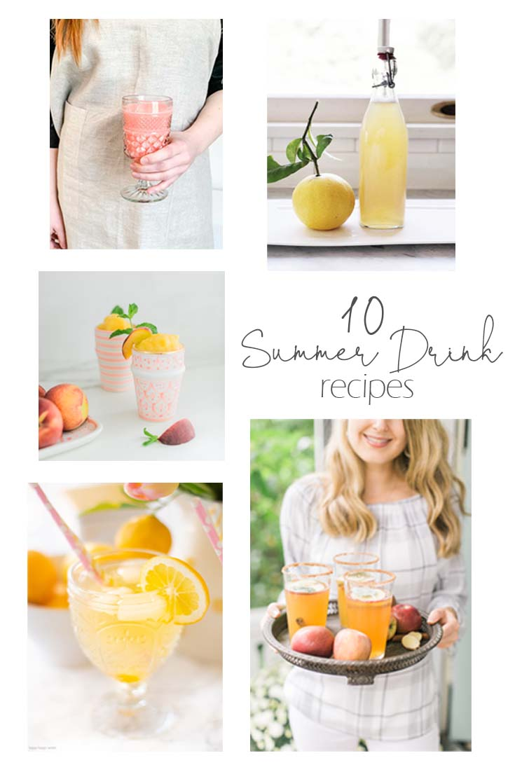 10 Non-Alcohol Summer Drinks For a Great Party. Here are 10 Non-Alcohol Summer Drinks that you'll love. Need some recipes this summer, well, we have you covered if you need slushies, teas, fruit drinks and more. These bloggers have tested them, and these are their favorites. #drinks #summerdrinks #cocktail #drinkrecipes #recipes #happyhour #weddings #weddingdrinks