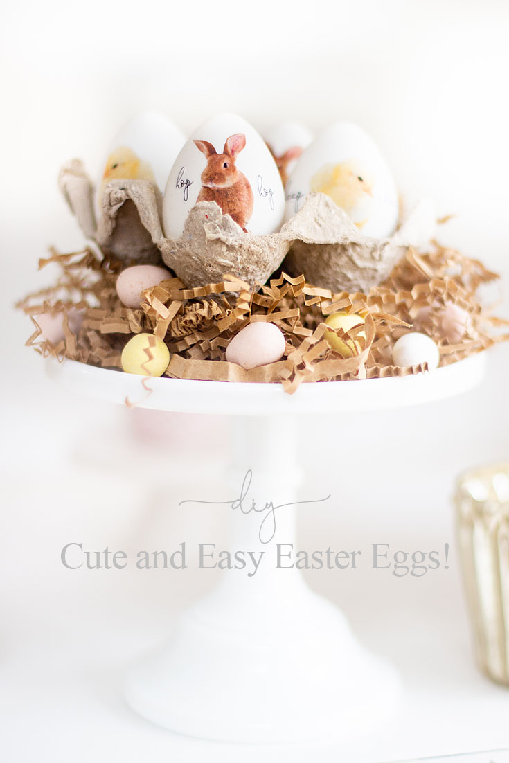 9 Unique Easter Egg Ideas with so many different styles. Easy projects that are perfect for Easter. There are decoupaged eggs, gilded eggs, and painted eggs all so pretty and easy to create. 9 bloggers come together for this great post. #crafts #easter #eastereggs #decoratingeggs #easterdecorating #decoupageeggs