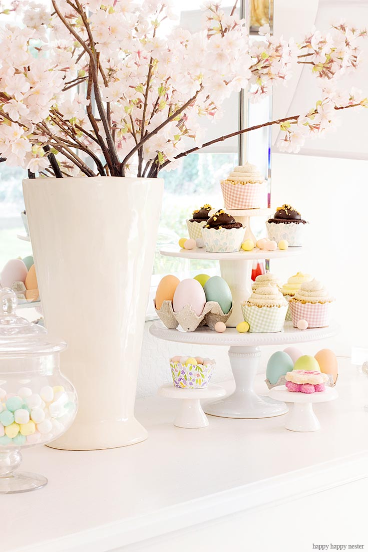 Simple Ways to Decorate with Target. This week, our 3 Ingredient challenge is to Decorate with Target Dollar Spot Items! For this project, I came up with a great display for my yummy Easter cupcakes. My cake stands and eggs are so cheap, and I'm so pleased how great they display my desserts for entertaining. #target #targetdollarspot #decorating #easter