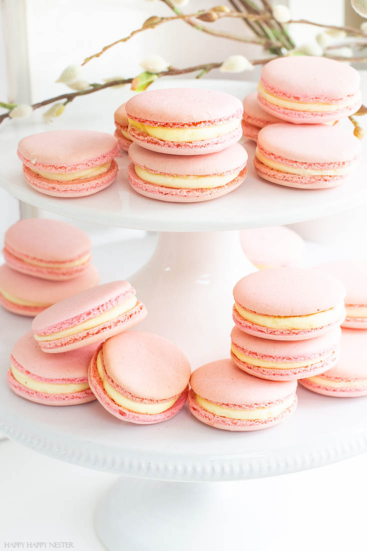 This Great French Macaron Recipe is Perfect. I have been obsessed with finding The Best Basic French Macaron Recipe for what feels like an eternity! I'm happy to say that I mastered baking them. This yummy recipe combines the meringue cookie with a buttery French sabayon filling. #macaron #cookie #frenchmacaron #meringue #italianmeringue #baking #bestcookie #bake