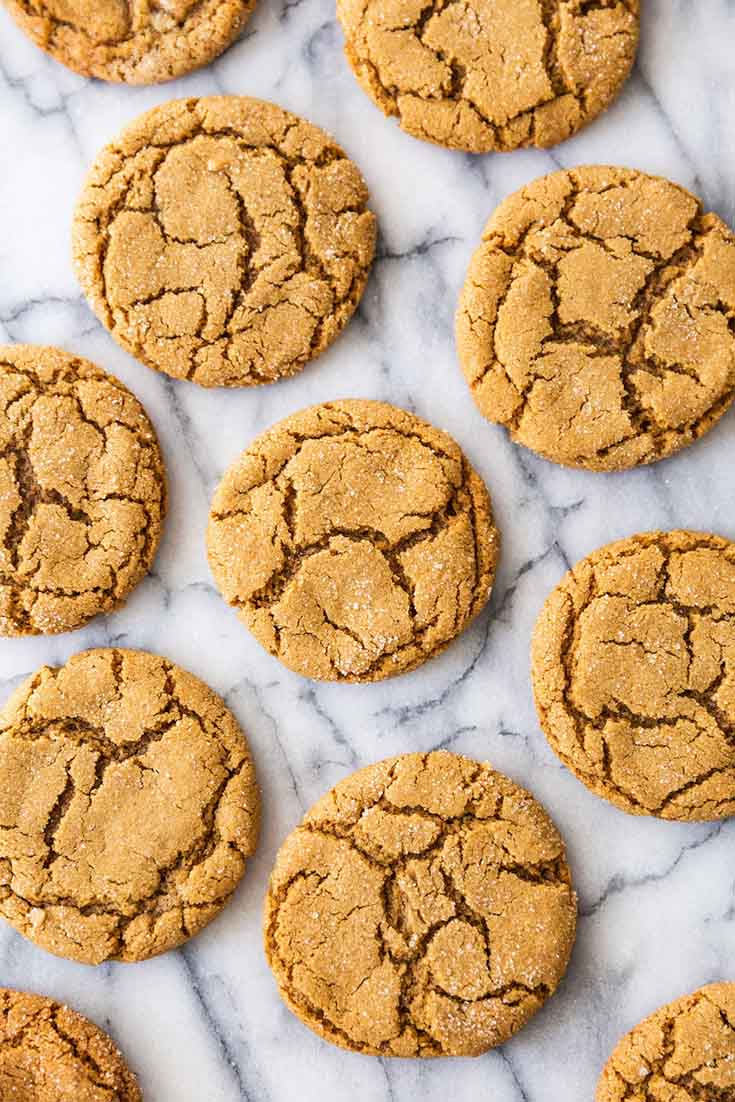 The Best Chewy Molasses Cookies Recipe. Here are 10 Comfort Food Cookies that are family favorites. There is such a wide variety of cookies that I'm sure you'll enjoy some of them. If you like chocolate chip, peanut butter, molasses, almond and biscotti than you'll love this collection. #cookies #bestcookies #baking #recipes #cookierecipes #chocolatechip