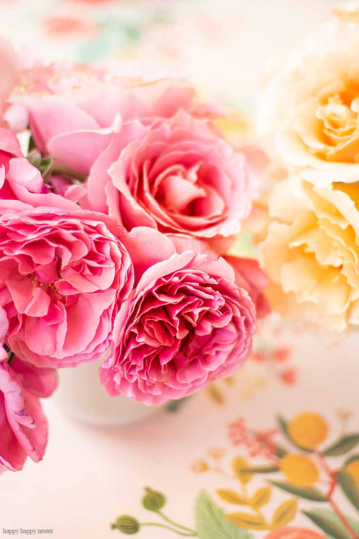 Garden Roses Are Displayed On My Casual Table Setting Ideas For Every Day  Is Easy To
