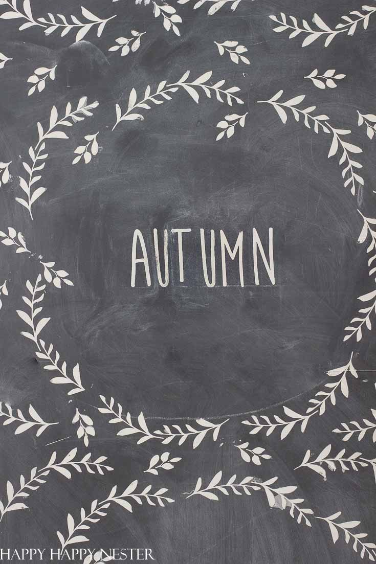 If you ever get intimidated by how to create Chalkboard Art, then you'll want to try these amazing stencils. They make it super easy to paint a pretty design on your chalkboard. Don't stress and create chalkboard art for every season. These stencils and paint take the guesswork out of creating artwork on your chalkboard. #chalkboard #chalkboarddesigns #arwork #chalkboardpaint