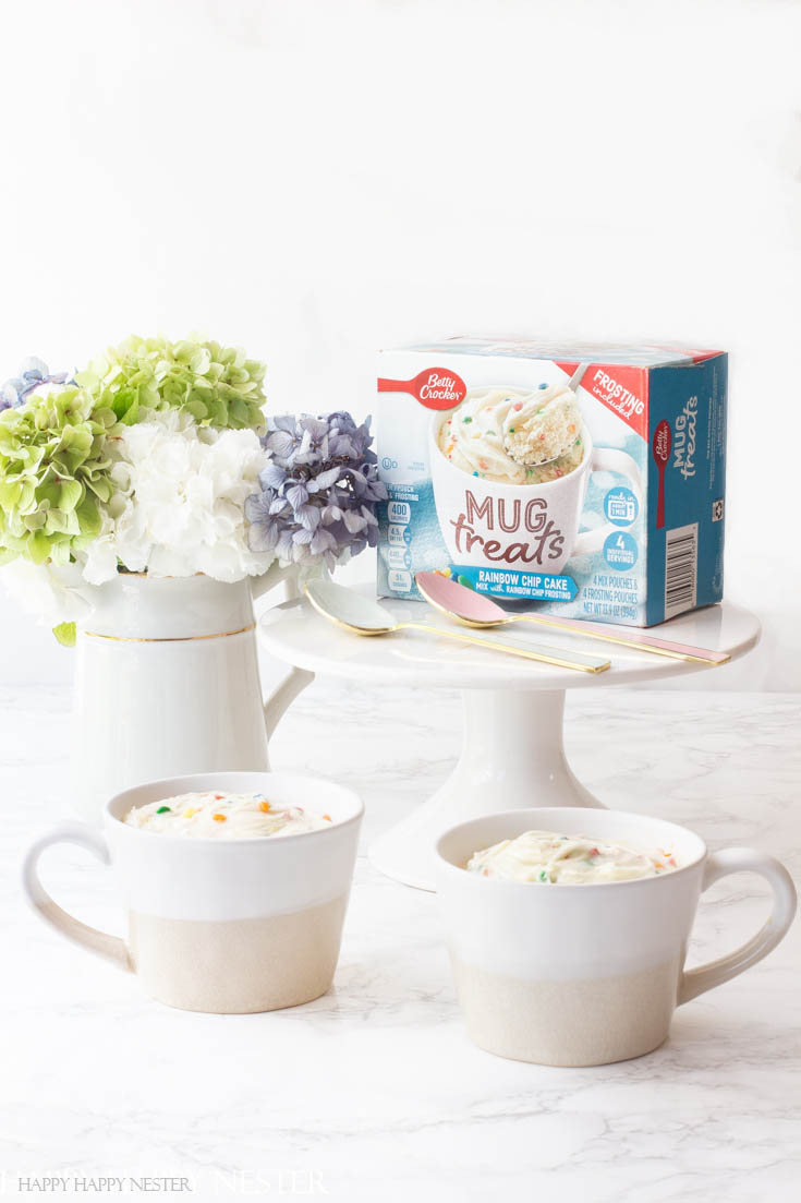 These Betty Crocker Easy Mug Cake Desserts make satisfying a sweet tooth so convenient. They are the perfect snack that only takes minutes to make.