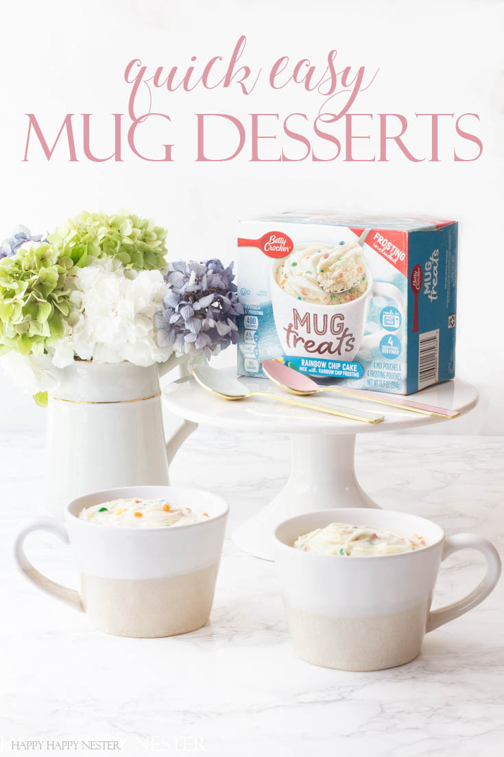 #AD These #BettyCrocker Quick Easy Mug Treats are ready in minutes. They come in eight flavors and satisfying any sweet tooth any time of the day. They are super convenient to make. Pour contents in a mug, add milk or water, stir and microwave for a couple of minutes and they are ready to enjoy!